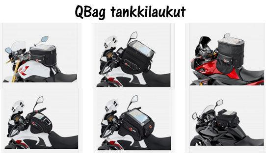 Moottoripyörät ja laukut