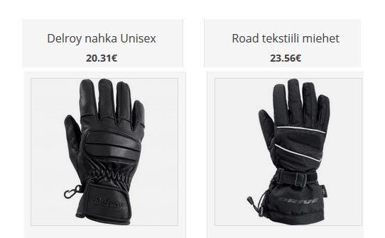 moottoripyörä hanskat ajokamat